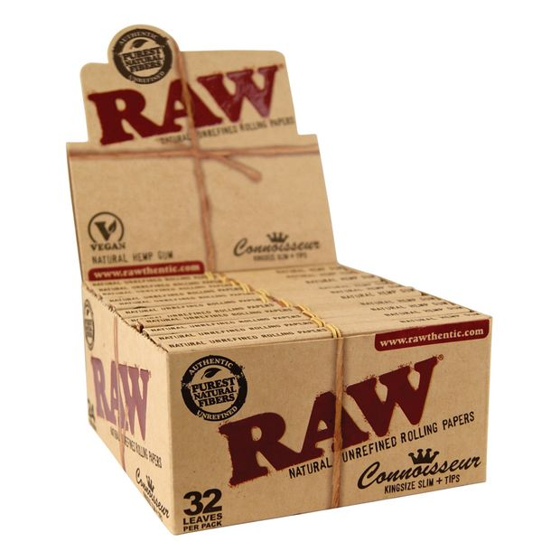 RAW Connoisseur King Size Papers + Tips inklusive...