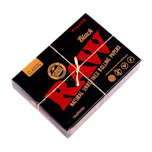 RAW Black Pack of Cards, 52 Playing Cards + 2 Smokers