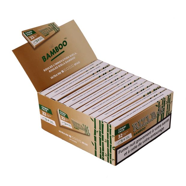 RIZLA Bamboo Combi Package, King Size Papers made of...