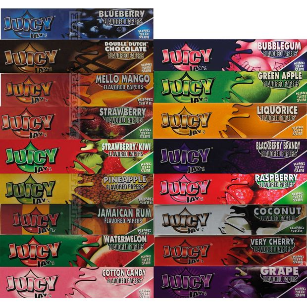 Juicy Jays Papers King Size flavored Papers 5 boxes (120 booklets)