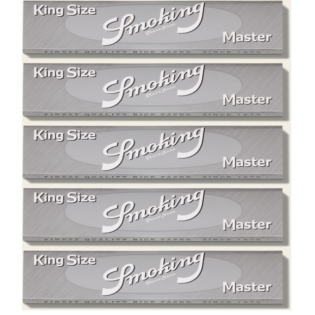 Smoking Master King Size Papers ultraslim Blättchen silber silver