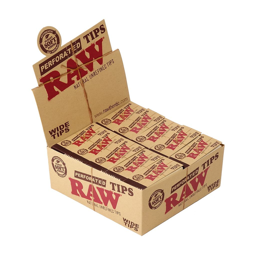 Two Pack Raw Perforated Tips Wide Tips All Natural 2 Packs