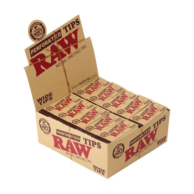 RAW Wide Tips King Size perforated unbleached Filtertips...