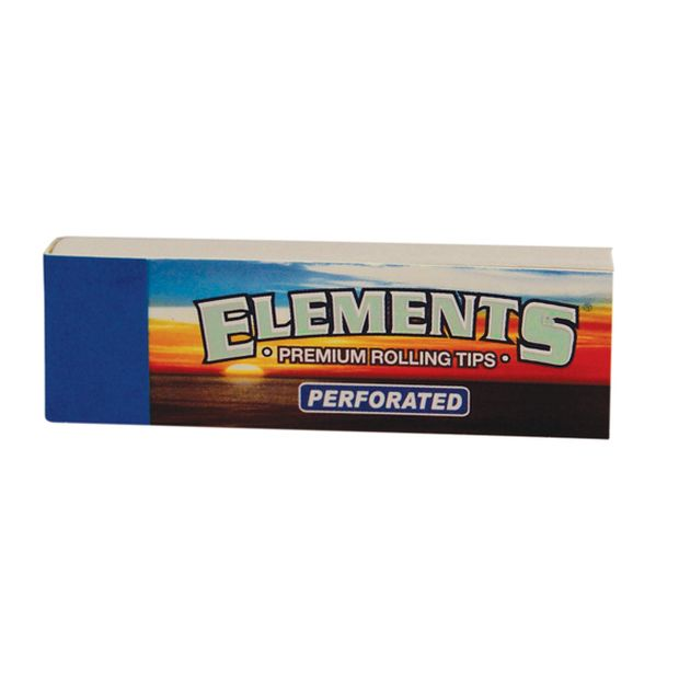 Elements Filter Tips perforiert slim Filtertips 20x Booklets