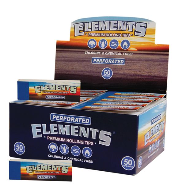 Elements Filter Tips perforiert slim Filtertips 3x Boxen...