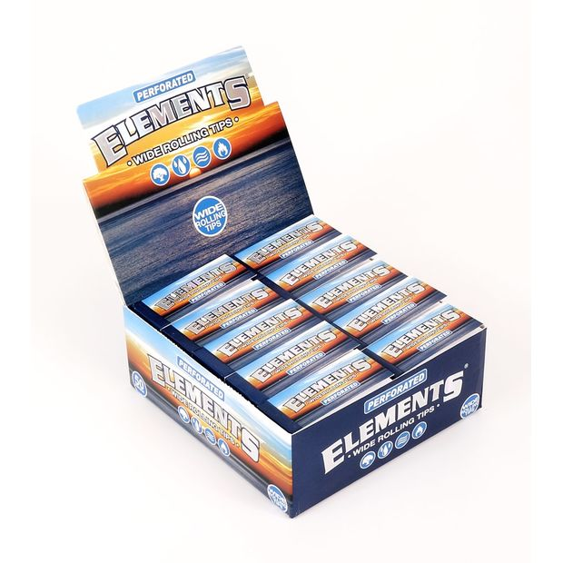 Elements Filter Tips wide King Size Filtertips perforated...