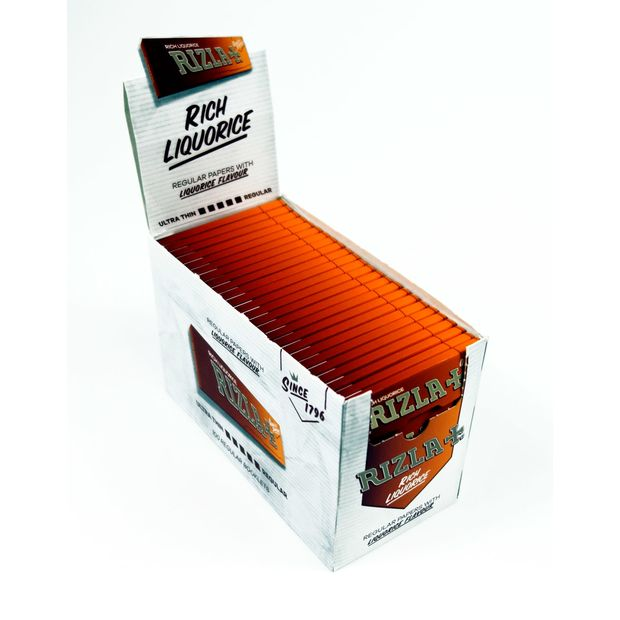 Rizla Liquorice cigarette paper braun single wide flavoured