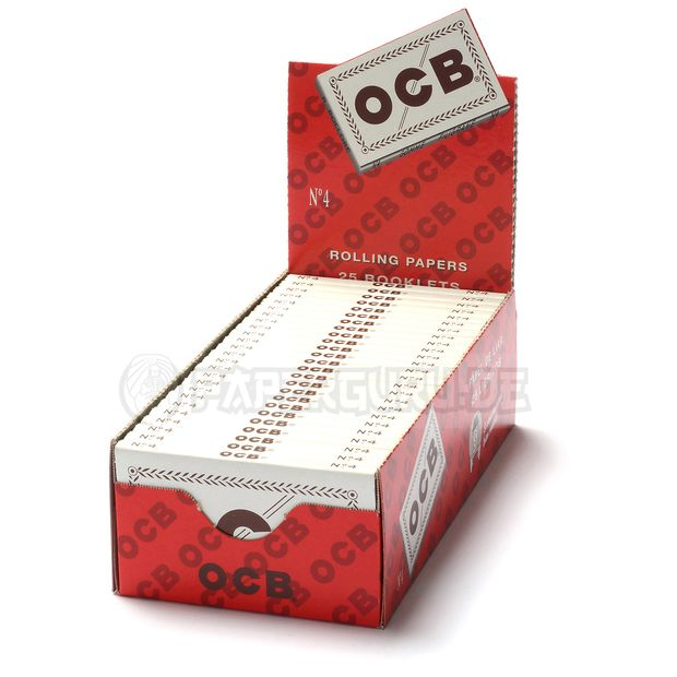 OCB White 100er cigarette papers Filigrane Gomme No. 4...