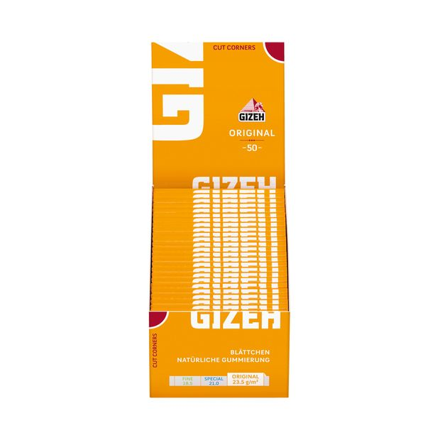 Gizeh Original yellow gelb cigarette rolling papers