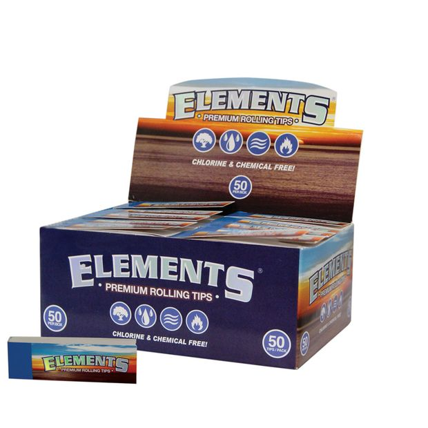 Elements Filter Tips unperforated slim Filtertips
