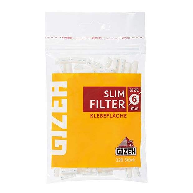 Gizeh Slim Filters 6mm with adhesive Strip