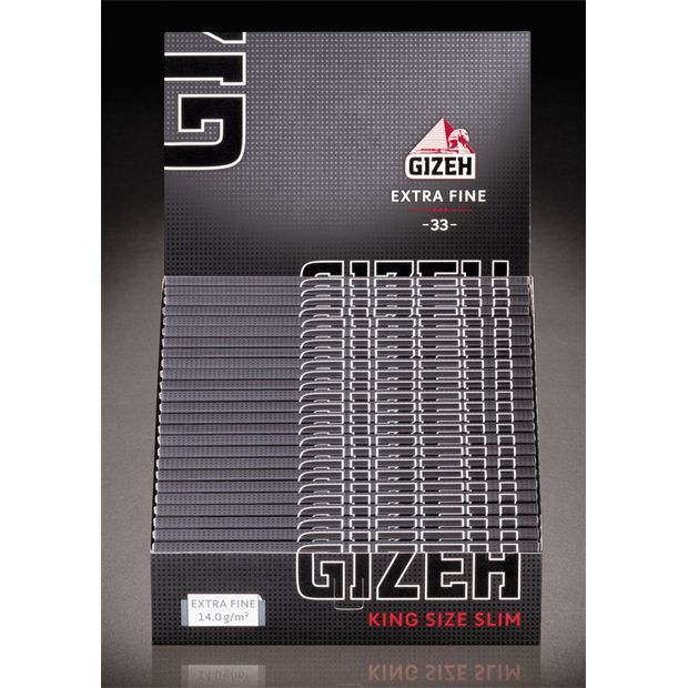 Gizeh Extra fine King Size slim cigarette rolling Papers black magnetic