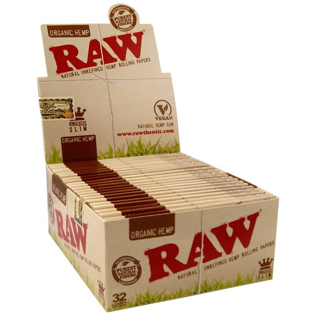 RAW King Size slim ORGANIC Hemp Papers Blättchen NEW! 1 box (50x booklets)